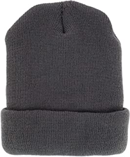 CTM Adult 4 Ply Knit Winter Cuff Hat