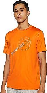 Nivia 2280-1 Nitro-4 Polyester Casual Round T-Shirt, XL (Orange)