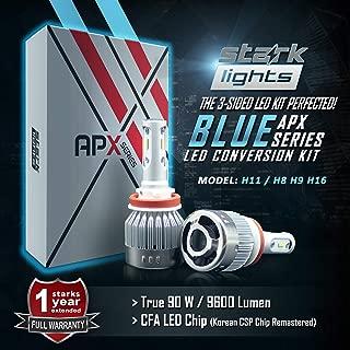 Stark APX 90W 9600LM LED Light 8000K Blue High Power Kit - Low Beam/High Beam/Fog Light Bulbs - H8 / H9 / H11 / H16