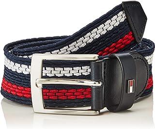 Tommy Hilfiger Men's Adan Stripe Elastic 3.5 Belt