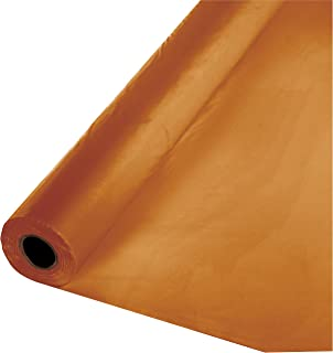 Creative Converting 323377 Touch of Color Plastic Table Banquet Roll, 100-Feet, Pumpkin Spice, 40