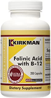 Folinic Acid w/B-12, Hypoallergenic, 200 Capsules