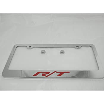 Fit Dodge Challenger Matt Black Liecnese Plate Frame with Caps