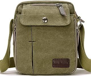 Japanese Grunge Fan Leaf Small Black Canvas Shoulder Bag