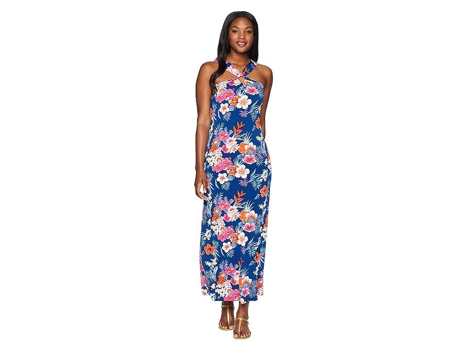 Tommy Bahama Mira Dora Floral Maxi Dress (Dark Cobalt) Women