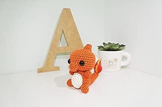 Charmeleon Amigurumi/Crochet Stuffed Doll (Pokemon Inspired Amigurumi) Gift Idea, Keychain, Planner Accessories, Bag Charm, Soft Toy