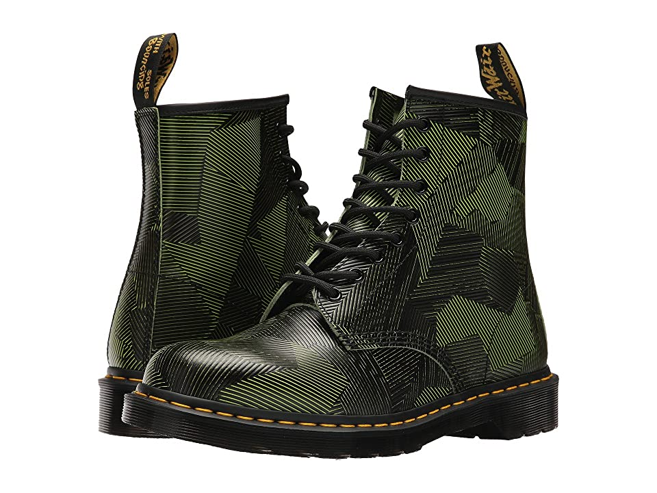 Dr. Martens 1460 8-Eye Boot (Neon Yellow/Black Geostripe) Men