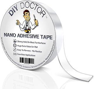 Diy Doctor Nano Cinta Adhesiva de Doble Cara - Cinta Multiusos Reutilizable con Gran Fuerza de Agarre – Cinta de Gel Extra...