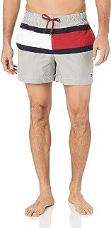 Tommy Hilfiger Core Flag Ithaca Medium Drawstring Swim Shorts, Ithaca Navy Blazer/Snow White