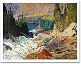 Jeh Macdonald Falls Montreal River Art Print Framed Poster Wall Decor 12x16 inch