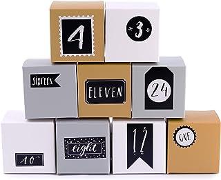 comprar comparacion Pajoma Calendario de Adviento Cajas de Plata, 1 x 24 Cajas para Rellenar, Incl. Pegatina