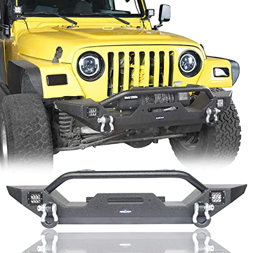 For Jeep Wrangler 1987-2006 Smittybilt RB01-T Stubby Black Rear Tubular Bumper