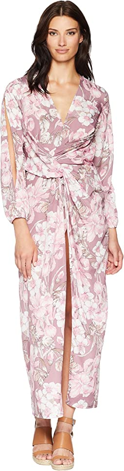 Floral Printed Draped Dress