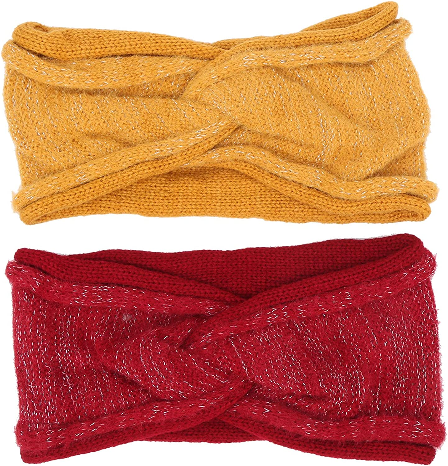 qing niao Women Elastic Headbands Lady Winter Warm Keeping Knitted Head Wraps Hair Accessories
