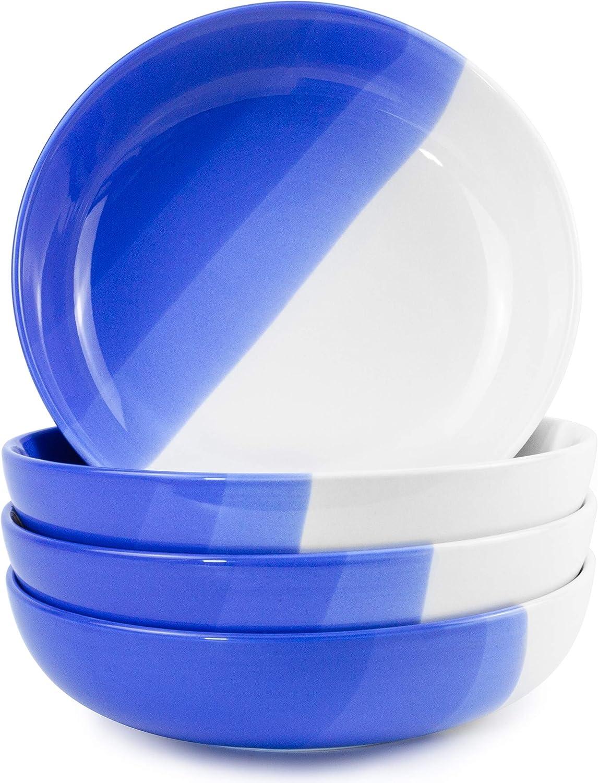 ModestHive Ombre Pasta Bowls Oia Blue - Porcelain Serving unisex Soldering