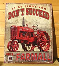 ShopForAllYou Vintage Decor Signs Farmall M Succeed Metal Poster TIN Sign Vintage Antique Steel Wheel Tractor 1742