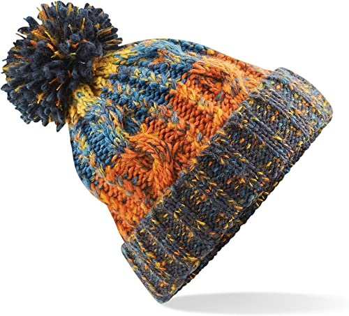 Poii Qon Beanies Hat Red-Eyes Crow Knit Cap for Unisex