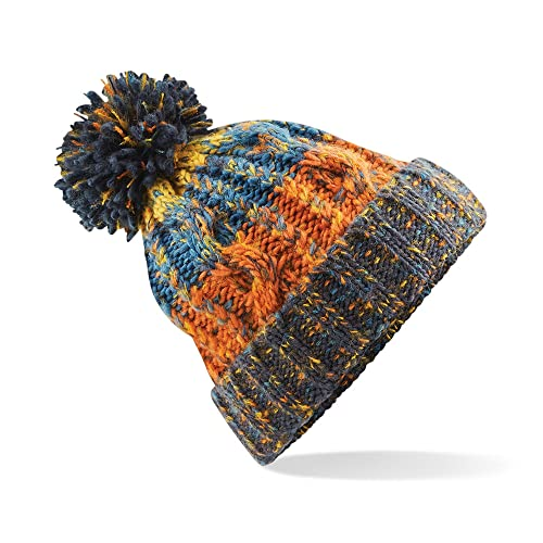 f31f47f821aaf Beechfield Unisex Adults Corkscrew Knitted Pom Beanie Hat