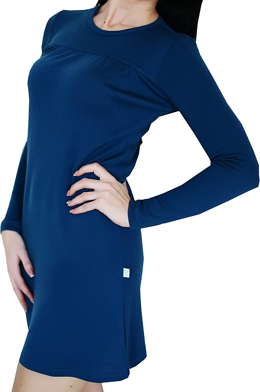 Womens Nightgown Import Long Sleeve Round Neck Nightshirts 100% Sales results No. 1 S-XXL