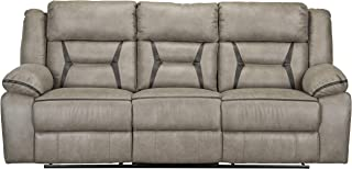 Standard Furniture 4227363V Acropolis Manual Motion Reclining Power Strip, Beige, Sofa