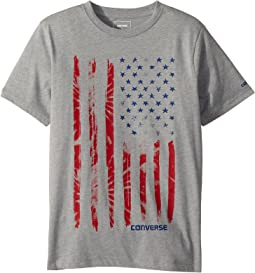 Converse Kids Tie-Dye Flag Tee (Big Kids)