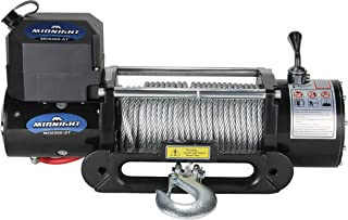 VIPER Recovery Winch, 12 VDC 8500lbs / 3856kg, steel hawse, handheld and wireless remote