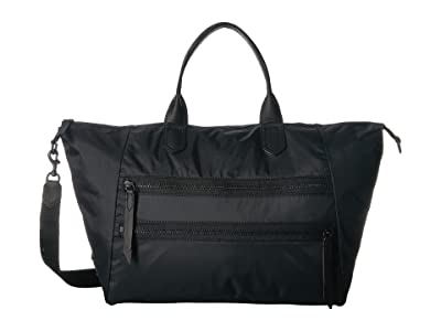 Frye Ivy Overnight (Matte Black Nylon) Handbags