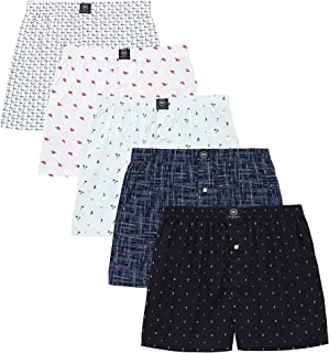 Badger Smith Men's, 5 - Pack and 3 - Pack 100% Cotton Print Multicolor Boxer Shorts
