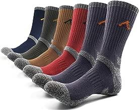 PEACE OF FOOT Hiking Socks boot socks For Mens 6(5+1) Pairs Multi Outdoor Sports Trekking Climbing Camping working Crew Socks