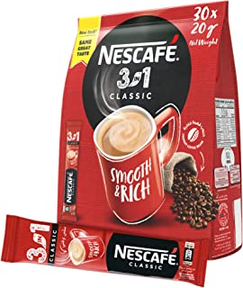 Nescafe 3in1 Instant Coffee Mix Sachet 20g (30 Sticks)
