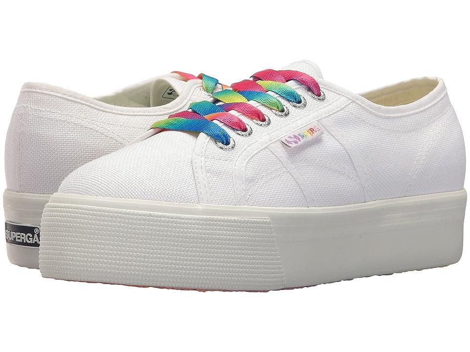 Superga 2790 COTW Multicolor Outsole Platform Sneaker (White Multi) Women