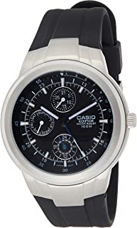 Casio Men's Black Dial Resin Band Watch - EF-305-1A