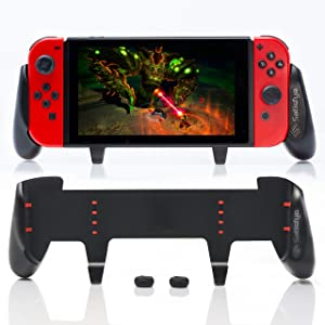 Satisfye - New SwitchGrip, Accessories Compatible with Nintendo Switch - Comfortable & Ergonomic Switch Grip, Joy Con & Switch Control. #1 Switch Accessories Designed for Gamers. BONUS: 2 Thumbsticks