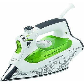 Rowenta DW6020 Eco Intelligence Ferro da Stiro a Vapore, Potenza 2400 W, Erogazione del Vapore 40 g/min, Verde/Bianco