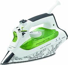 Rowenta Eco Intelligence DW6020 - Plancha de vapor-seco, 2400 W, 0.3 L, suela de acero inoxidable, 180 g/min, verde/blanco