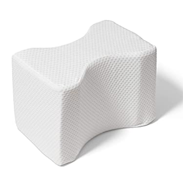 Proheeder Knee Support Pillow for Side Sleeping - Memory Foam Cushion to be used Between Legs, knees and Ankles to help Alleviate Lower Back, Hip, Knee and Sciatic Pain - Pressure Relief Cushion