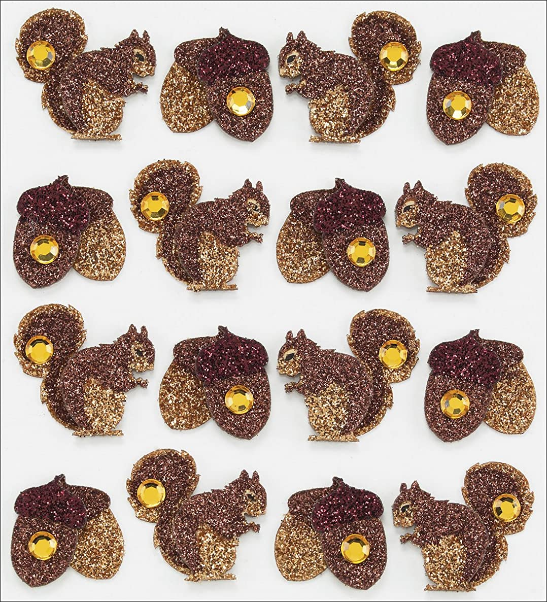 Jolee's Boutique Dimensional Stickers, Acorns and Squirrel