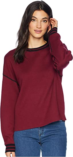 Luxe Cotton Blend Reversible Crew Neck Pullover