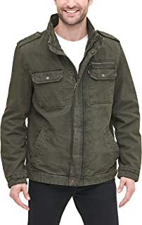 Men's Washed Cotton Military Jacket