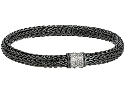 John Hardy Classic Chain 6.5mm Bracelet with Diamonds (Blackened Silver) Bracelet