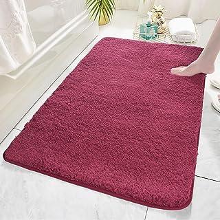 Bath Rug COSY HOMEER 48x24 Inch,Non-Slip Soft Thickness Shaggy Water Absorbent Bathroom Carpet,Machine Washable Rectangula...