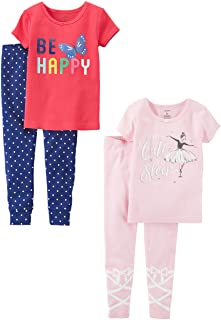 Carter's Baby Girls' 2-Pack Two-Piece Cotton Pajamas