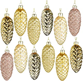 Best glass pine cone christmas tree ornaments Reviews
