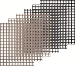 """Kingrol 6 Pack Non-Stick BBQGrill Mesh Mat, 15.75"""" x13"""" for Smoker, Pellet, Gas, Charcoal Grill"""