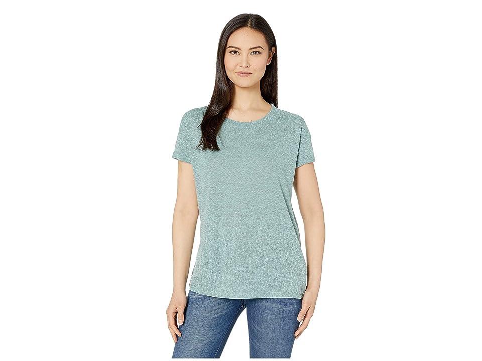 Prana Cozy Up T-Shirt (Iced Aqua Heather) Women