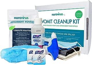 Norovirus Body Fluid Spill Kits | Single-Use 23 Piece Complete Clean Up Kits | FDA Food Code & OSHA Compliant (Single Kit)