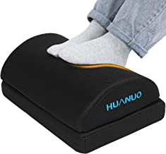 HUANUO Adjustable Footrest with 2 Optional Foot Cushions, Non-slip Foot Stools for Office, Home, Travel