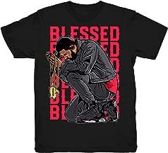 Infrared 6 Drake Blessed Shirt to Match Jordan 6 Infrared Sneakers Black t-Shirts