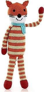 Pebble   Handmade Fox - Orange   Crochet   Fair Trade   Pretend   Imaginative Play   Woodlands   Rattle   Machine Washable