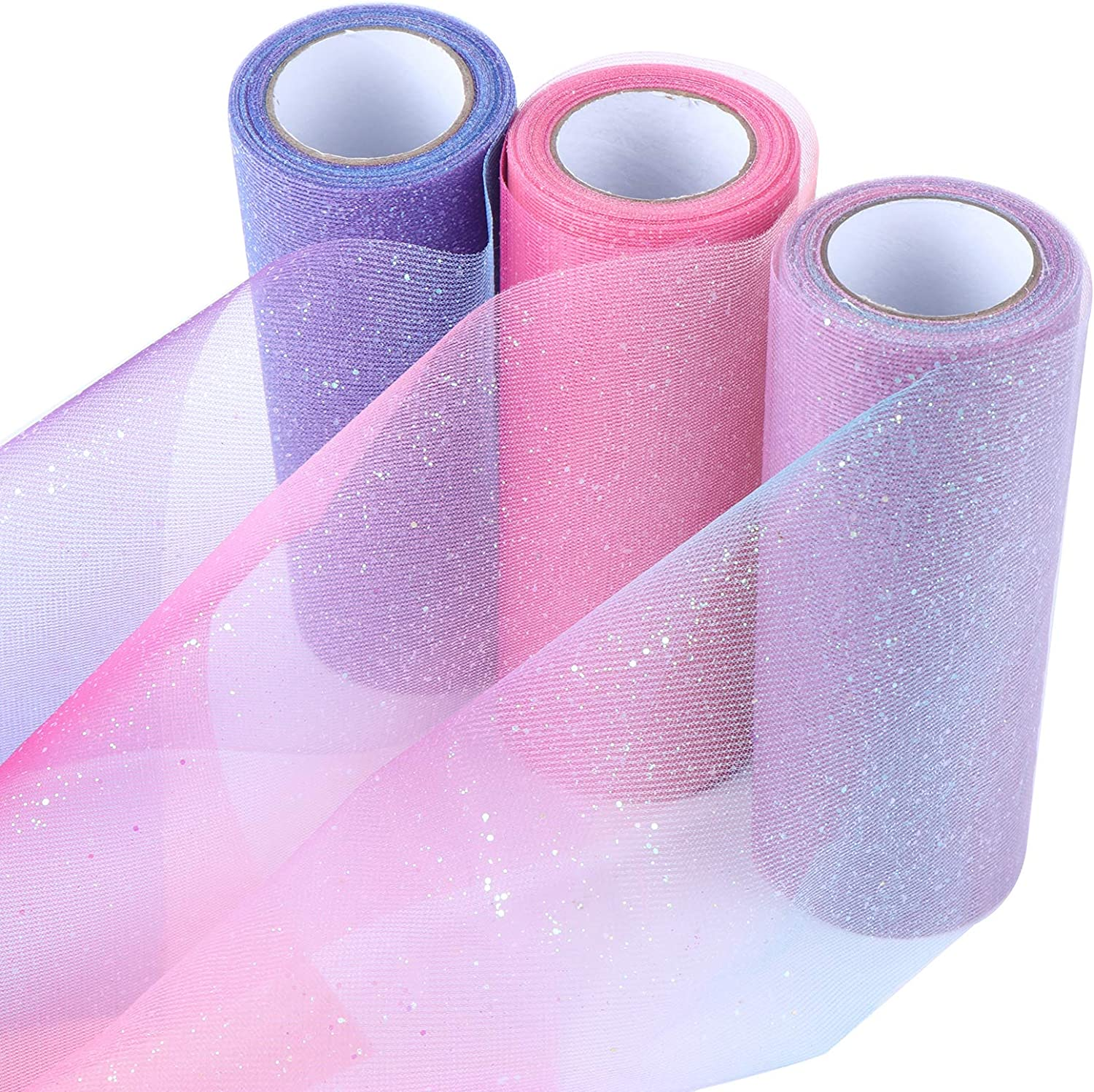 3 New Orleans Mall Rolls Shimmer Some reservation Rainbow Dreamy Glitter Tulle Ribbon